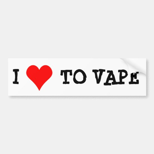 I LOVE TO VAPE BUMPER STICKER
