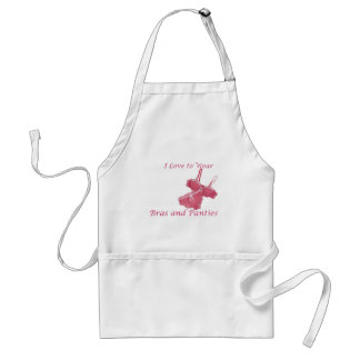 I Love to Wear Bras and Panties Standard Apron