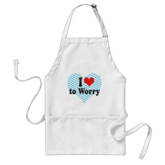 I Love to Worry Apron