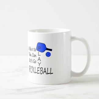 i love to you can lets go play pickleball blue coffee mug
