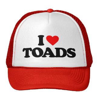 I LOVE TOADS HAT