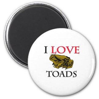 I Love Toads Refrigerator Magnet