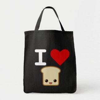 i love toast canvas bags