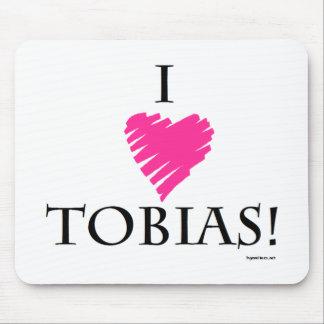 I Love Tobias! Mouse Pad