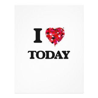 I love Today 21.5 Cm X 28 Cm Flyer