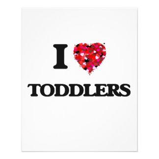 I love Toddlers 11.5 Cm X 14 Cm Flyer