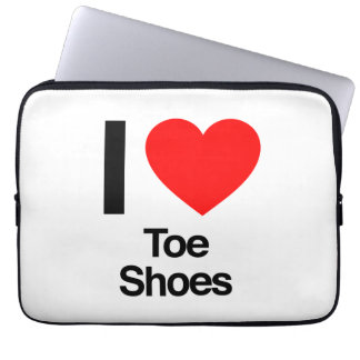 i love toe shoes laptop computer sleeves