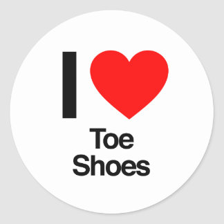 i love toe shoes sticker