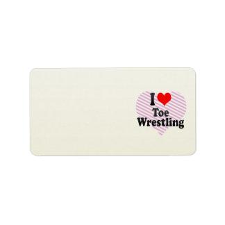 I love Toe Wrestling Address Label