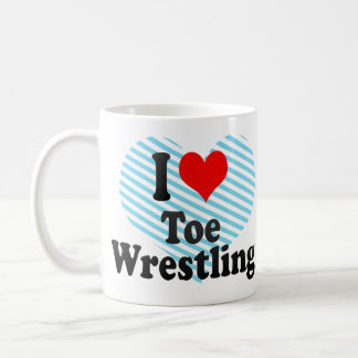 I love Toe Wrestling Basic White Mug