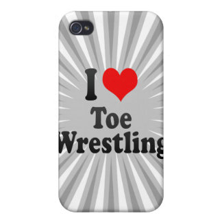 I love Toe Wrestling Case For iPhone 4