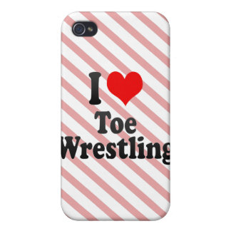 I love Toe Wrestling Cover For iPhone 4