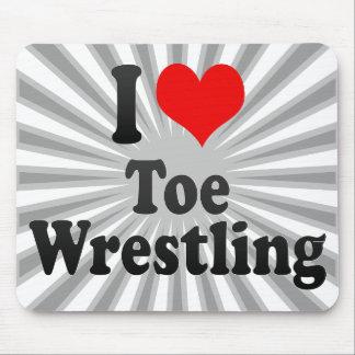 I love Toe Wrestling Mouse Pad