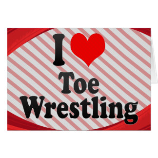 I love Toe Wrestling Note Card