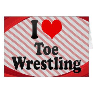 I love Toe Wrestling Note Card