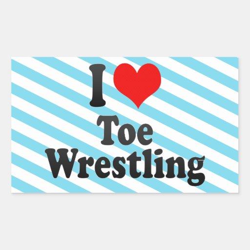 I love Toe Wrestling Stickers