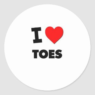 I love Toes Round Stickers