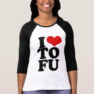 I Love Tofu Funny Vegan humour Tshirt