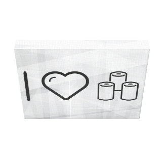 I Love Toilet Papers Gallery Wrap Canvas