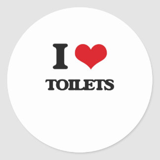 I love Toilets Round Sticker
