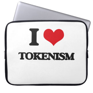 I love Tokenism Computer Sleeves