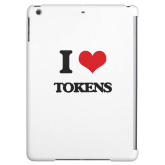 I love Tokens Cover For iPad Air