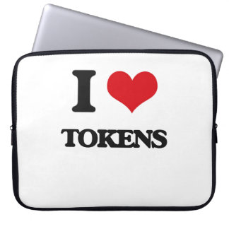 I love Tokens Computer Sleeve