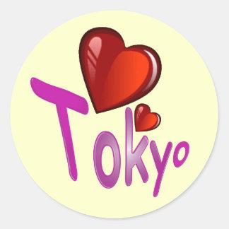 I Love Tokyo! Classic Round Sticker