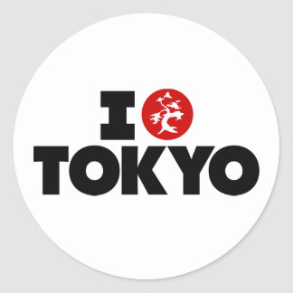 I Love Tokyo Classic Round Sticker