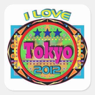 I LOVE Tokyo Emblem #1 2012 T-Shirt Square Sticker