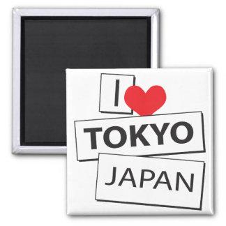 I Love Tokyo Japan Fridge Magnet