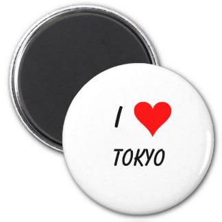 I love tokyo 6 cm round magnet