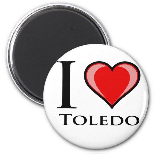 I Love Toledo 6 Cm Round Magnet