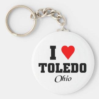 I love Toledo, Ohio Key Ring