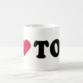 I LOVE TOM CLASSIC WHITE COFFEE MUG