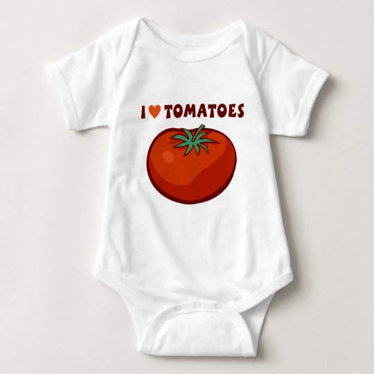 I Love Tomatoes Baby Bodysuit