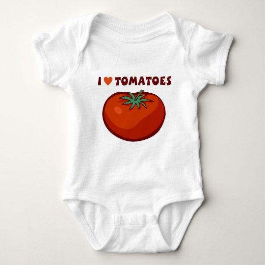 I Love Tomatoes Baby Bodysuit
