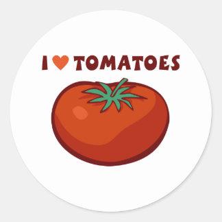 I Love Tomatoes Classic Round Sticker