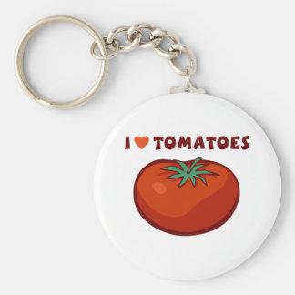 I Love Tomatoes Key Ring