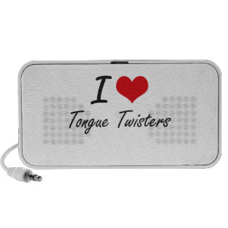 I love Tongue Twisters Portable Speaker
