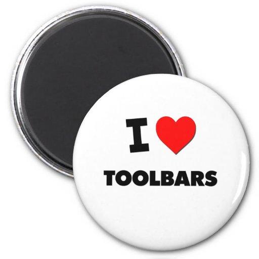 I love Toolbars Refrigerator Magnets