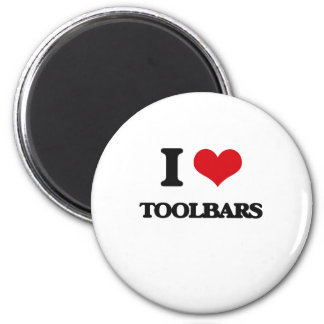 I love Toolbars 2 Inch Round Magnet