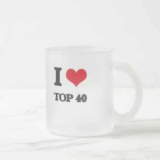 I Love TOP 40 Frosted Glass Mug