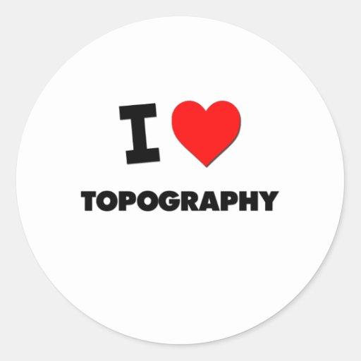 I love Topography Sticker