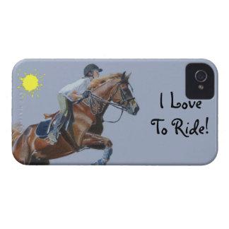 I Love Tor Ride! Hunter/Jumper iPhone 4/4S Case-Ma iPhone 4 Covers