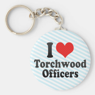 I Love Torchwood Officers Key Chains