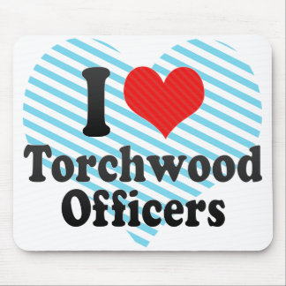 I Love Torchwood Officers Mouse Pad