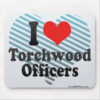 I Love Torchwood Officers Mousepads