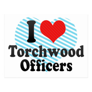 I Love Torchwood Officers Post Card