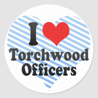 I Love Torchwood Officers Stickers